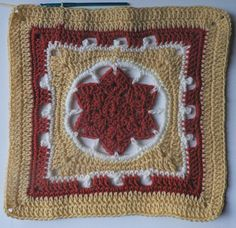 Falling Star granny square. Free crochet pattern.