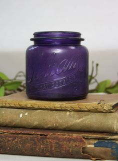 Vintage Purple Bottle Schram Automatic Sealer by VintageSupplyCo