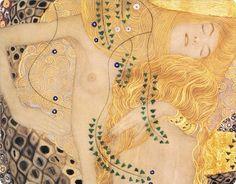 Water Serpents, Gustav Klimt detail
