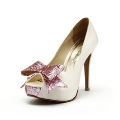 424ec6306e1d Items similar to Cranberry, Ivory White Wedding Heels, Ivory Wedding Shoes  with Glitter, Ivory and Pink Wedding Heels, Glitter Wedding Shoes on Etsy