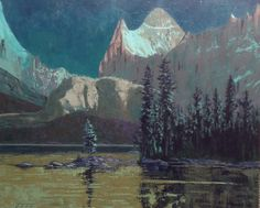 Nocturne, Lake O Hara, by Todd Lachance 30x36
