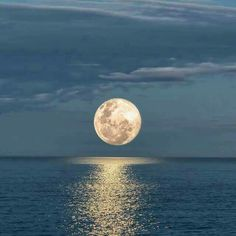 Beautiful moon over the ocean in Avalon, NJ. Taken by one of my co-workers Beautiful World, Beautiful Places, Beautiful Pictures, Beautiful Ocean, Amazing Nature, Beautiful Gif, Beautiful Sunrise, Shoot The Moon, Photos Voyages
