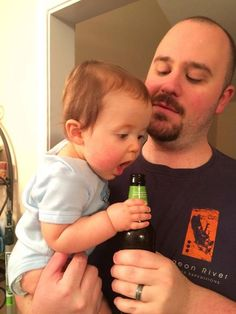 """Nope sorry kid that's daddy's bottle...""  Life of Dad user A. Heinlein"