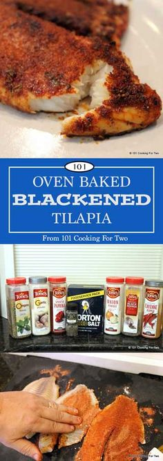 Oven Baked Blackened Talapia From 101 Cooking for Two - just leave out the Tartar or sub fresh salsa!