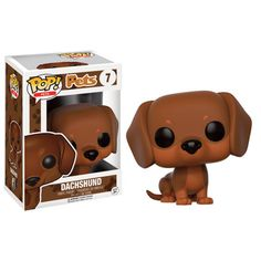 Dachshund Funko Pop Vinyl Figure from the Pop! Pets line Brought to you by Pop In A Box, the site Funko Pop! Vinyl shop