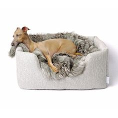 EDITOR'S PICK | Deeply Dishy Dog Bed - Weave Linen by Charley Chau. These luxury Deeply Dishy Dog Beds from Charley Chau are pared-back pooch perfection. £115.00 in store now
