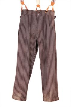 1930's french stripped wool pants