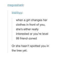 Or you've been in a relationship for a year and have no shame