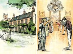 The Complete Novels of Jane Austen – Pride and Prejudice - illustration by Jacqui Oakley Jane Austen Movies, Jane Austen Quotes, Beautiful Stories, Pride And Prejudice, Historical Fiction, Art Images, World, Fingerstyle Guitar, Petticoats