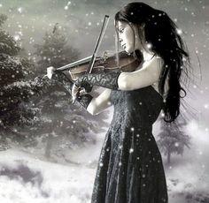 A ritmo di neve.. foto web #snow #music #nordic