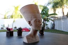 The bust of Queen Nefertiti is a 3,300 year-old work of art that was found in Egypt by german archaeologists in 1912. It's in a Museum in Berlin with limited access to the public where no photos ar…