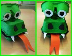 Roses originals i dracs creatius per treballar aquest Sant Jordi Kids Crafts, Art Activities For Kids, Toddler Activities, Arts And Crafts, Egg Carton Art, Egg Carton Crafts, Egg Cartons, Dinosaur Crafts, Dragon Party