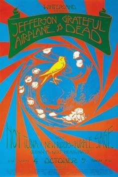 Jefferson Airplane, Grateful Dead, Hot Tuna, New Riders Of The Purple Sage, Glenn McKays, Headlights October 4-5, 1970, Winterland