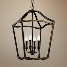 """Feiss Yarmouth 14 3/4""""W 5-Light Aged Brass Foyer Pendant - #8H785 