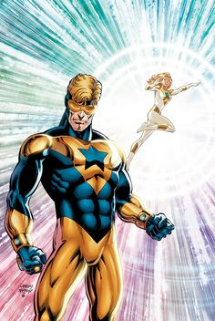 Booster Gold and Goldstar
