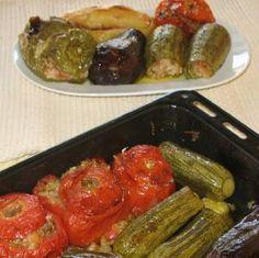 10 Favorite Greek Vegetarian Recipes: Meatless Stuffed Vegetables - Yemista me Ryzi