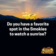 Do you have a favorite spot in the Smokies to watch a sunrise? Sunrise, Mountains, Watch, Bracelet Watch, Clocks, Sunrise Photography, Sunrises, Rising Sun, Wrist Watches