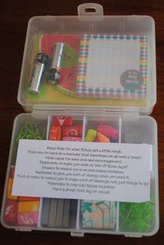 teacher survival kit gift, have to do this for Thomas teachers for Christmas I guess I am not done with Waslmart yet...