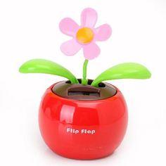 Flip Flap Solar Powered Flower Flowerpot Auto Car Dashboard Swing Dancing Toy | eBay