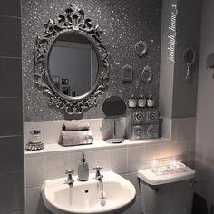 New house interior paint wallpapers ideas Glitter Bathroom, Glitter Room, Bling Bathroom, Gothic Bathroom Decor, Glitter Home Decor, Glitter Walls, Glitter Backdrop, Glitter Eye, Sparkly Walls