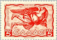 Notos, the Greek god of the south wind and bringer of the storms of late summer and autumn . The winds on post Greece Culture, Greek Gods, Stamp Collecting, Postage Stamps, My Arts, Poster, Late Summer, Money, Storms