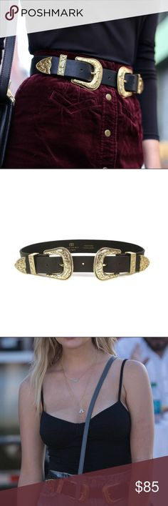 """B-low the Belt Bri Bri Belt Gold (Size S) This belt is perfect for any season and awesome with any coachella outfit! Looks great with anything from jeans to dresses! This has been worn once and is in excellent, like new condition!   Size Small measures 28"""" (71.1cm) in length, with a 1.5"""" strap and 2.5"""" buckle (*Measurement is taken from the buckle point to the second to last hole on the extender while both the belt body and extender are fastened together at the second hole) B-Low the Belt…"""