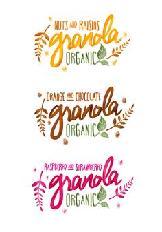 Graphic design experiment for Granola packaging.