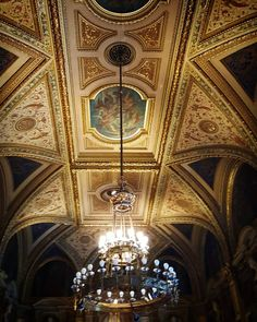 #Vienna #Staatsoper #State #Opera #Ceiling #Chandeliers #Fresco #Painting #Music #Art #Culture #Travel by elektra0assassin http://bit.ly/AdventureAustralia