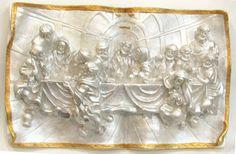 Ateliê Le Mimo: RELIGIOSO  Santa Ceia Placa de parede Peça em gesso