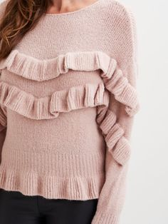 VISILJA frill knit top
