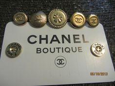 ButtonArtMuseum.com - Vintage Lot of 7 Authenic Chanel Buttons