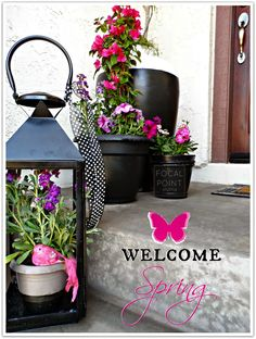 Welcome Spring on the Stoop with lanterns from @homegoods mixed with your containers