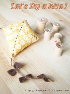 Riley Blake Designs -- Cutting Corners: Recent Blog Articles. Kite pincushion free tutorial.