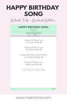 Piano Music With Letters, Piano Music Easy, Drum Sheet Music, Piano Music Notes, Happy Birthday Guitar Chords, Happy Birthday Music, Birthday Songs, Piano Songs For Beginners, Easy Ukulele Songs