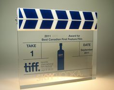 Recognition Awards Ideas made from Lucite Skyy Vodka, Recognition Awards, Film Awards, Feature Film, Ideas, Design, Thoughts
