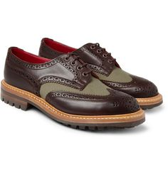 JUNYA WATANABE TRICKER'S COTTON-TWILL AND LEATHER BROGUES http://www.facebook.com/DressShoesandSneaker