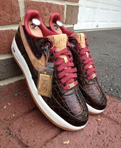 "Nike Air Force 1 Bespoke ""Scotch & Malbec"""