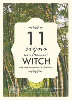 11 Signs You're A Natural Born Witch – not yer average mama Wiccan Witch, Magick, Wiccan Magic, How To Read People, How To Know, Fantasy Witch, Witch Signs, Working On Me, Witchcraft For Beginners