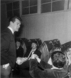April 26, 1963-Backstage at Music Hall, Shrewsbury-
