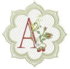 Alpha & Berries Lace Edge Coaster