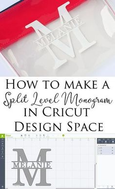 How do I create a split-level monogram in the Cricut Design Space? Step by step Cricu … How do I create a split-level monogram in the Cricut Design Space? Step by step Cricu … Plotter Silhouette Portrait, Plotter Silhouette Cameo, Silhouette Cameo Free, Silhouette Design, Silhouette Studio, Cricut Projects To Sell, Cricut Tutorials, Cricut Project Ideas, Craft Projects