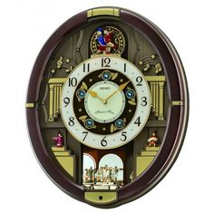 """Completely amazing musical clock. Seiko """"Melodies in Motion: Danube"""" model. Plays 18 songs and has moving parts. So cool to watch and listen to."""