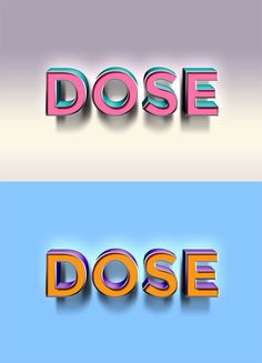 dose-text-effect-psd Text Effects, Photoshop Effects, 3d Text Effect, Texts, Templates, Headers, Logos, Design, Stencils