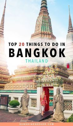 Top 20 things to do in Bangkok, Thailand   Top sights & attractions not to miss in this vibrant city   Bangkok travel guide #thailandtravel
