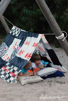 Recycle your plastic bags with style by making this tent for the kids