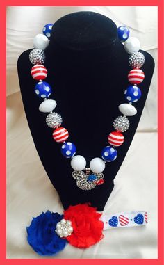 A personal favorite from my Etsy shop https://www.etsy.com/listing/245286172/minnie-mouse-inspired-red-white-blue