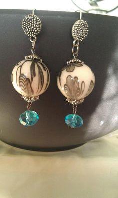40's/50's print earrings by AdelaidsCreations on Etsy, $8.00