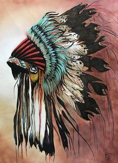Native American Tattoos, Native Tattoos, Native American Headdress, Native American Decor, Native American Paintings, Native American Pictures, Indian Art Paintings, American Indian Art, Native American Drawing