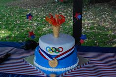 Olympic Theme Cake