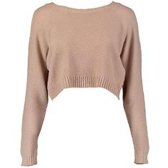 Boohoo Sofie Cold Shoulder Crop Jumper (€8,92) ❤ liked on Polyvore featuring tops, sweaters, shirts, crop top, knit sweater, white shirt, cropped sweaters, white sweaters and wrap sweater
